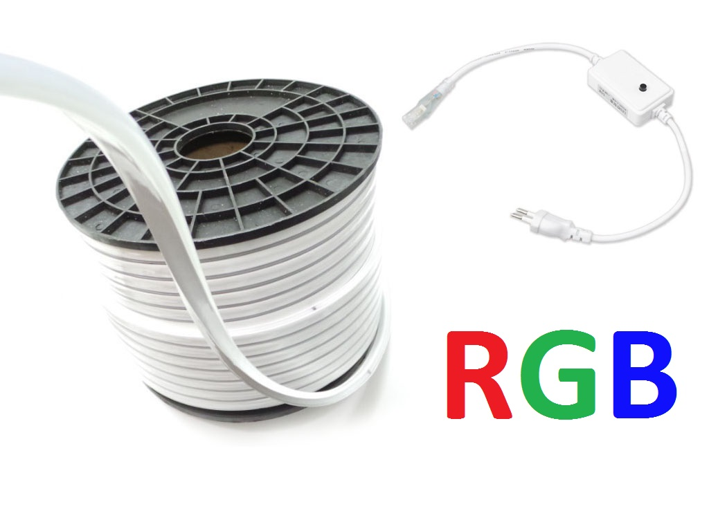 100m RGB Strip Led 220V 100M-S7-5050-80-RGB